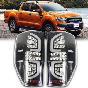 Ford Ranger 2012-17 T6 T7 Black Clear Led Tail Lamp