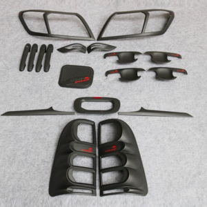 Toyota Hilux Vigo 2012 Matte Black Full Set Kits With Red